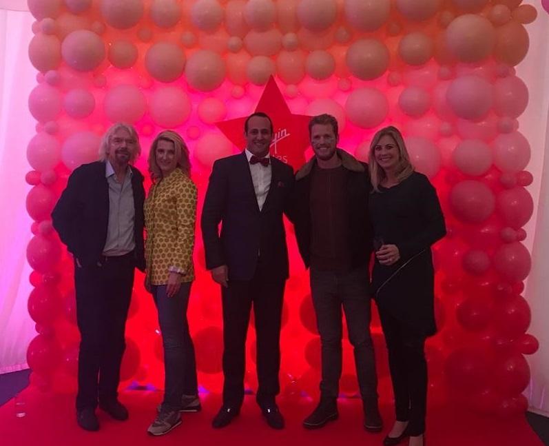 Grażyna Piotrowska - Oliwa oraz Richard Branson, Holy Branson, Sam Branson - podczas spotkania w Oxfirdzie - październik 2018